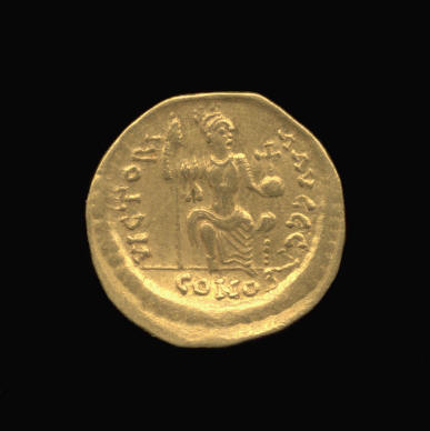 Gold Solidus of Justin II