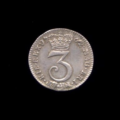 Silver Threepence of George III