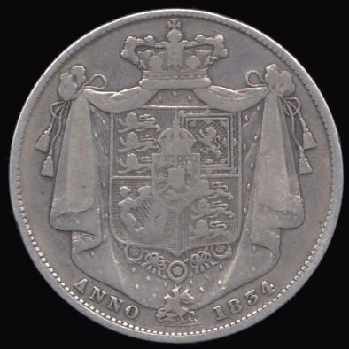 Silver Halfcrown of William IV