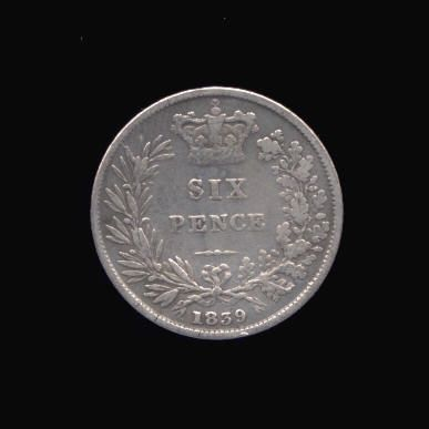 Silver Sixpence of Victoria