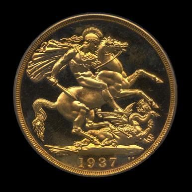 Gold Two Pounds of George VI