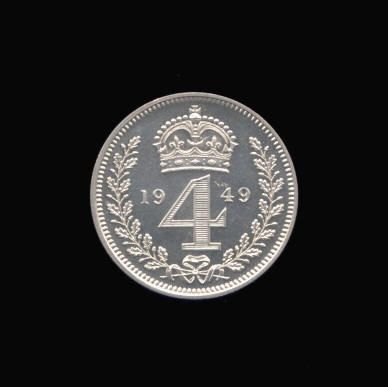 Silver Fourpence of George VI