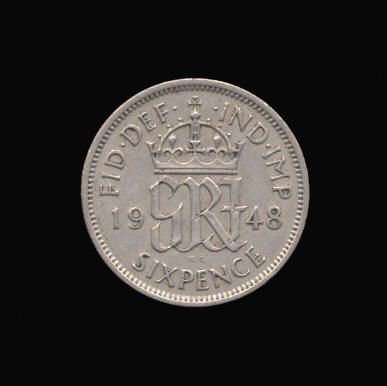 Base Sixpence of George VI
