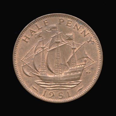 Base Halfpenny of George VI
