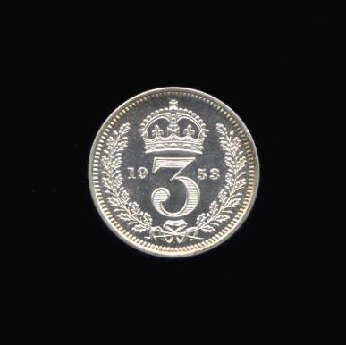 Silver Threepence of Elizabeth II