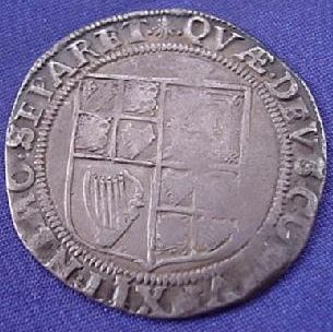 Silver Shilling of James I