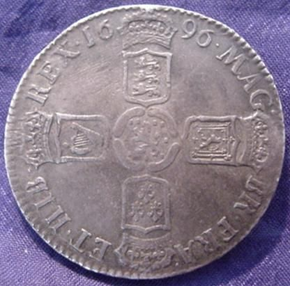 Silver Halfcrown of William III
