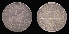 Silver Halfcrown of Edward VI