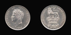 Silver Shilling of George IV