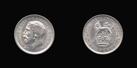 Sixpence of George V
