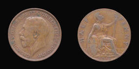 Halfpenny of George V