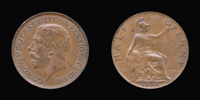 Base Halfpenny of George V