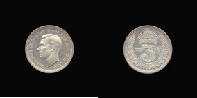 Silver Threepence of George VI