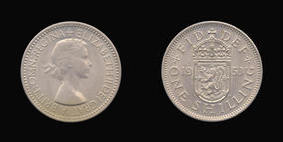 Base Shilling of Elizabeth II
