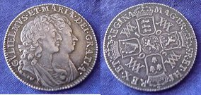 Shilling of William and Mary