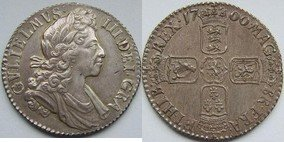 Silver Shilling of William III