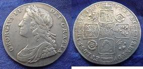 Silver Shilling of George II