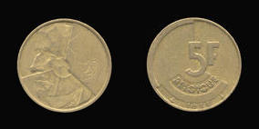 Brass or Aluminum-Bronze 5 Francs of