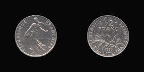 Nickel 1/2 Franc of