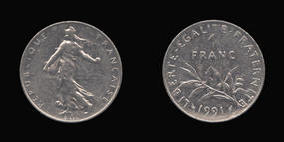 Nickel 1 Franc of