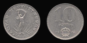Nickel 10 Forint of