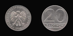 Copper-Nickel 20 Zlotych of
