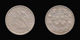 Copper-Nickel 5 Escudos of