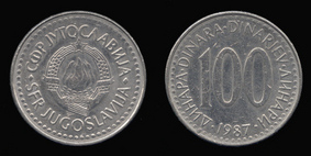 Copper-Nickel-Zinc 100 Dinara of
