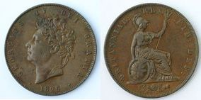 Base Halfpenny of George IV></a>     </div> </td> </tr> <tr style=