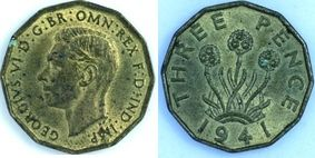 Base Threepence of George VI></a>     </div> </td> </tr> <div class='spacer'> <tr><td colspan=