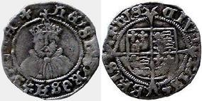 Silver Penny of Henry VIII