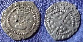 Silver Halfpenny of Henry VIII