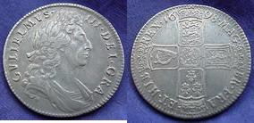 Silver Halfcrown of William III></a>     </div> </td> </tr> <div class='spacer'> <tr><td colspan=