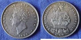 Silver Shilling of George IV></a>     </div> </td> </tr> <div class='spacer'> <tr><td colspan=