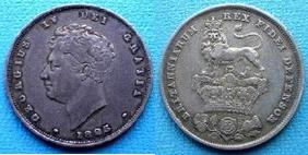 Silver Shilling of George IV></a>     </div> </td> </tr> <tr style=