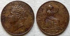 Base Halfpenny of George IV></a>     </div> </td> </tr> <div class='spacer'> <tr><td colspan=
