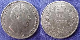 Silver Sixpence of William IV