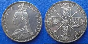 Silver Double-florin of Victoria